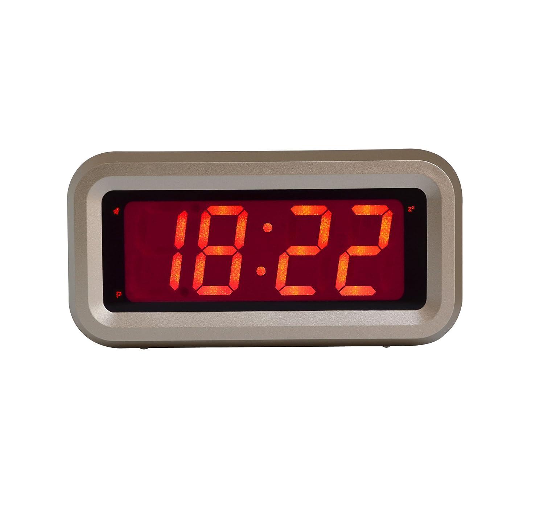 kwanwa digital alarm clock with led display gold small. Black Bedroom Furniture Sets. Home Design Ideas