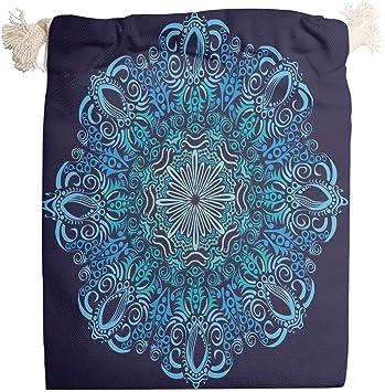 Lind88 - Bolsa organizadora de 6 Piezas Mandala de Lona Lavable para Caramelos para Envolver Regalos de Año Nuevo, diseño de Mandala Impreso, Tela, Blanco, 12 * 18cm: Amazon.es: Equipaje