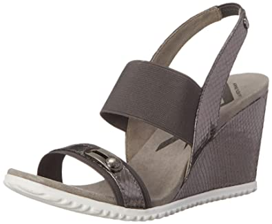 Womens High Heels Anne Klein Mikki Wedge Sandals Heels Under Discount