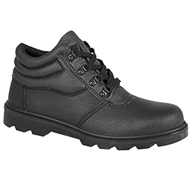 Mens Safety Chukka Boots Grafters Steel Toe Leather Lace Up Comfort Work  Shoes: Amazon.co.uk: Shoes & Bags