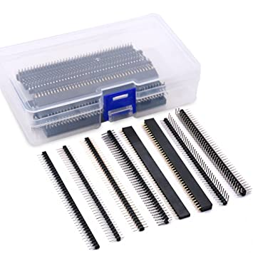 Amazon.com: glarks 40pcs 8 tipos de 2,54 mm PCB Junta de ...