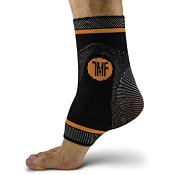 d79e88b53e Ankle Compression Brace with Silicone Ankle Support and Anti-Microbial  Copper. Plantar Fasciitis,