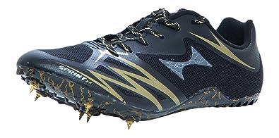 8ebc4f23b HEALTH Sprint Spikes Black   Gold Track   Field Shoes 115-3  Buy ...