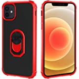 Restoo Compatible with iPhone 12/12 Pro Case,Protective Clear Case with [Kickstand Ring] [Soft Shock Absorbing Bumper] for iP