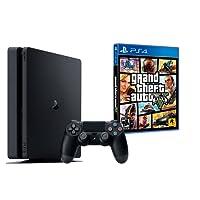 PS4 Slim 1To Noir - Playstation 4 + GTA V