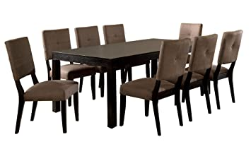 Bay Side Espresso Finish 9 Piece Dining Table Set