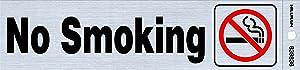 "Hillman 839838 No Smoking Self-Adhesive Sign (2"" x 8"")"