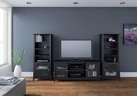 Attirant Tuxedo 58 Inch TV Stand With Two Curio Cabinets