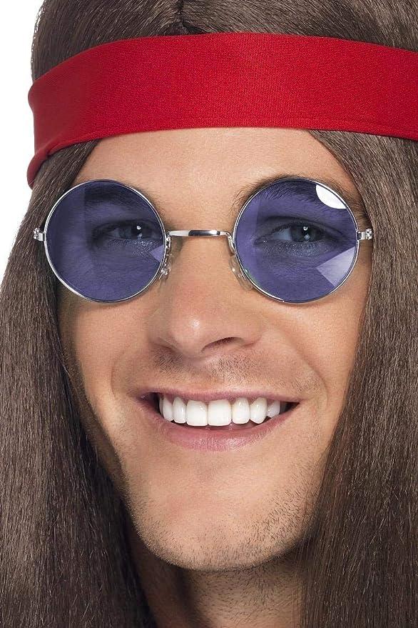 Smiffys Occhiali da Hippie lenti con colori assortiti