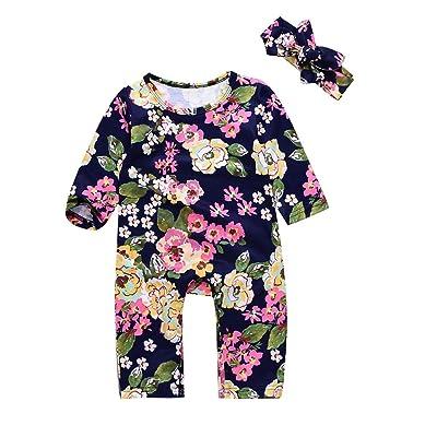 52c761c99f Catpapa Newborn Infant Baby Girl Boy Summer Cotton Romper Jumpsuit Bodysuit  Outfit