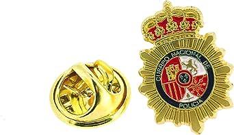 Gemelolandia | Pin de Solapa Emblema Policia Nacional Dorado Mate | Pines Originales Para Regalar | Para las Camisas, la Ropa o para tu Mochila | Detalles Divertidos