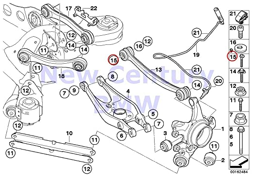 Amazon Com Bmw Genuine Rear Axle Supportwheel Suspension Eccentric
