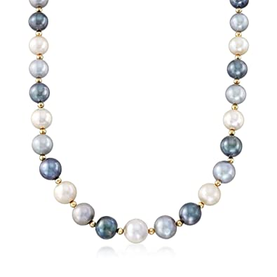 321c77688040a Amazon.com: Ross-Simons 12-15mm Multicolored Cultured Pearl Necklace ...