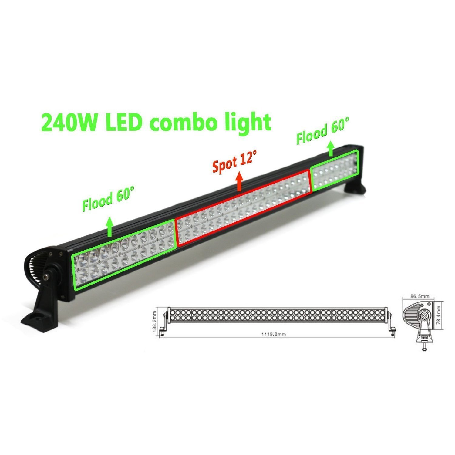 amazon com new world motoring 42 off road extra led light bar amazon com new world motoring 42 off road extra led light bar cree 240w flood spot combo beam automotive