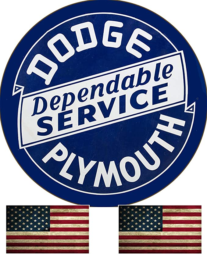 """Put A Dodge In Your Garage Reproduction 12/"""" Circle Aluminum Sign"""