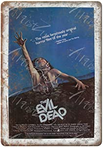 None Branded Metal Tin Sign Classic The Evil Dead Horror Film Movie Vintage Retro Aluminum Sign 8x12 Inch