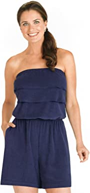 Carol Wright Gifts Ruffle Terry Romper