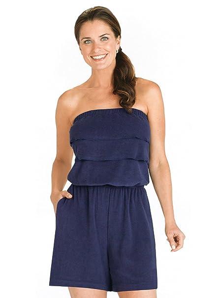1c2c768bea4 Amazon.com  Carol Wright Gifts Ruffle Terry Romper  Clothing