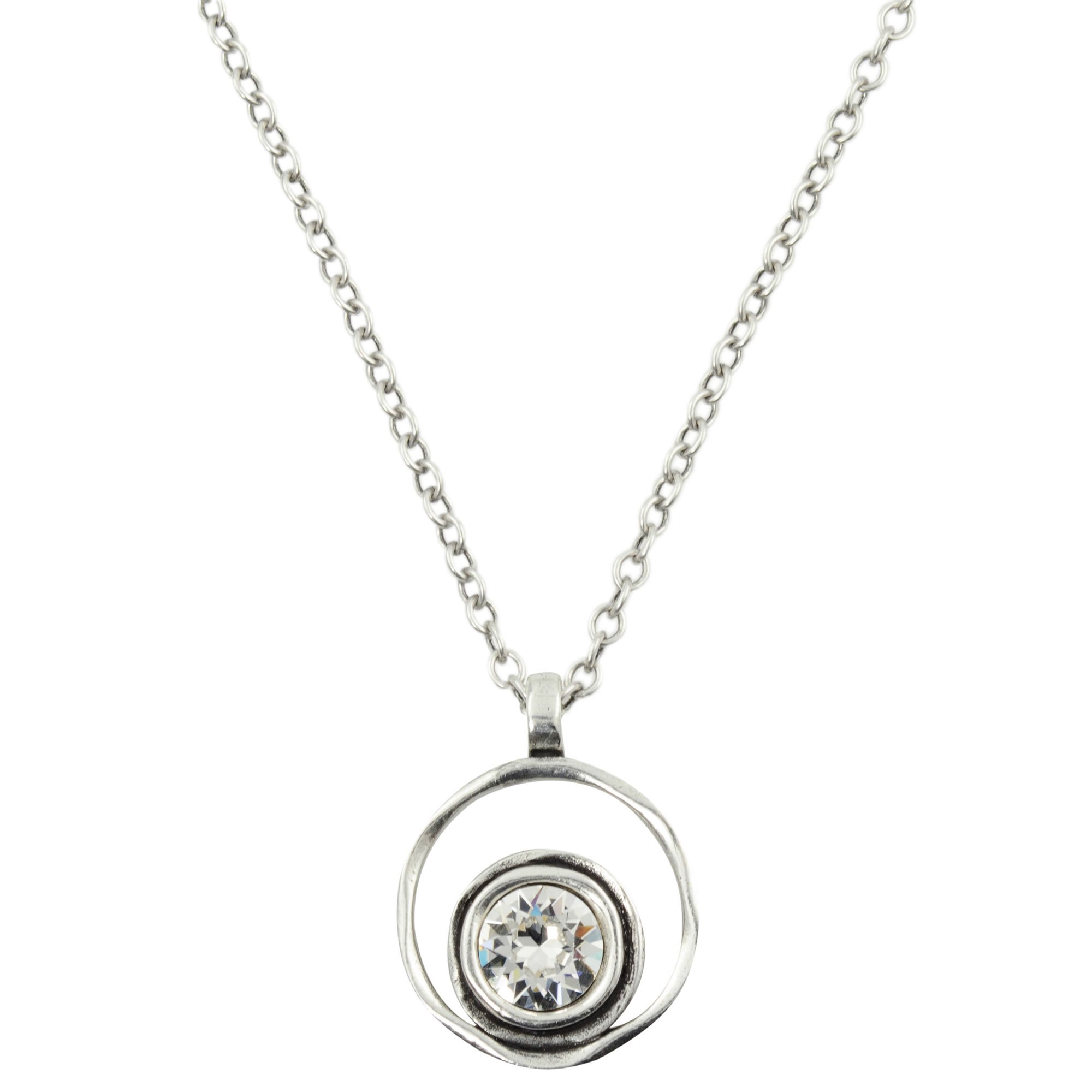 Patricia Locke Serenity Necklace in Silver, Crystal Color Story