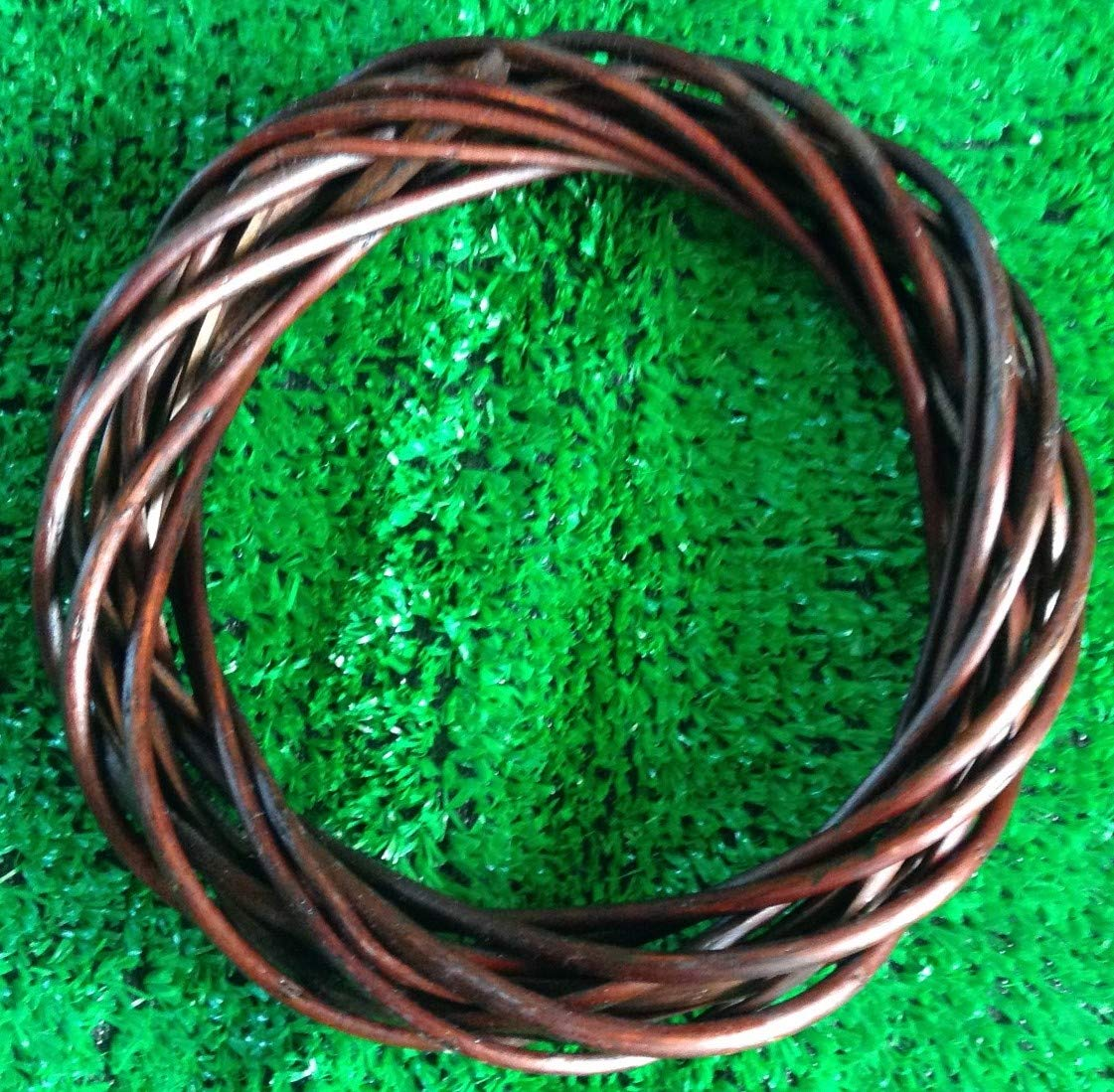 8 Dark Willow.Single 20cm The Natural Look Wicker//Willow Wreath Ring