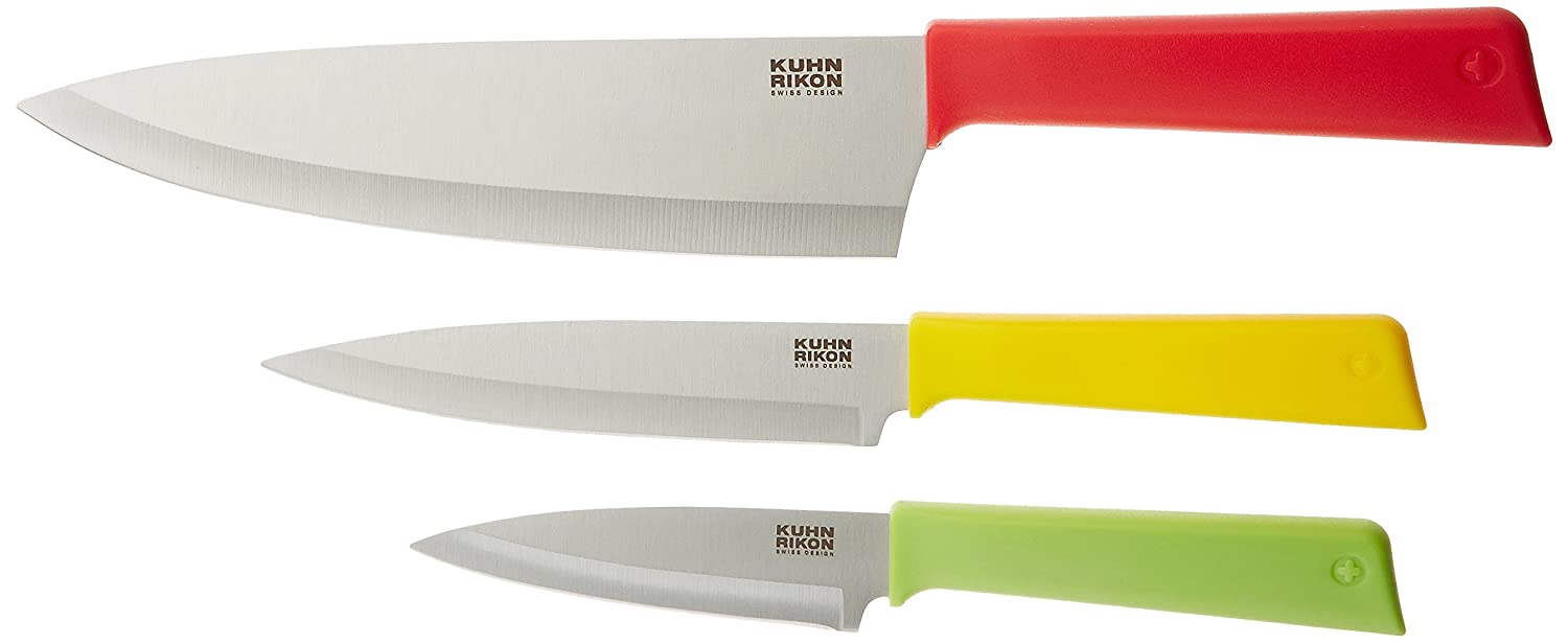 Kuhn Rikon Color Plus Classic Professional Set, Red/Yellow/Green 26689