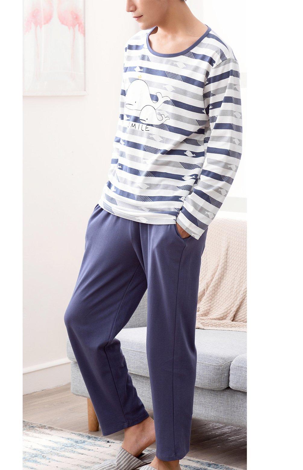 BYX SweetLeisure Big Boys Loose Cute Cotton Pajamas Leisure Wear 10-16 Years by BYX SweetLeisure (Image #2)