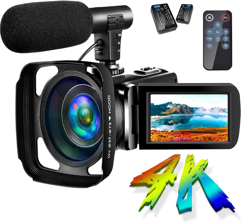 Sauleoo Camcorder Video Camera 4K 30MP