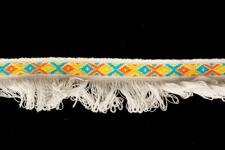 Cinta de flecos de jacquard tejida en blanco de 30 mm – 15 metros: Amazon.es: Hogar