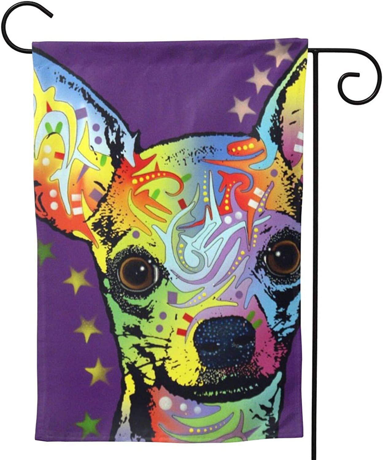 antkondnm All You Need is Love and A Dog Chihuahua Garden Flag,Seasonal Holiday House Yard Flags Outdoor Banner Decorations,Double Sided Decorative
