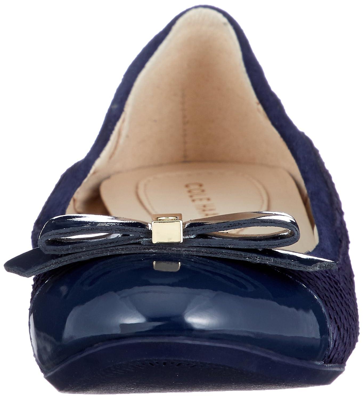 Cole Haan Women's Elsie Ii Ballet Flat B079J4ZNC5 5.5 B(M) US|Marine Blue Embossed Suede/Leather