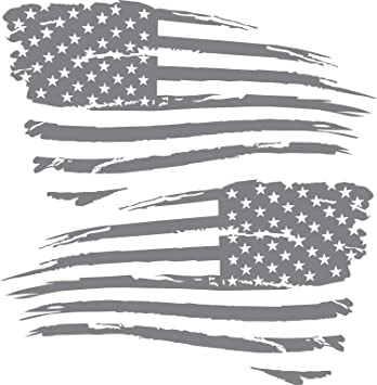 American Flag Distressed Decal Sticker compatible with Jeep Chevy Hood Big Size