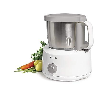 Suavinex - Robot de cocina bebé 5en1: Cocina, tritura, Calienta, descongela y Esteriliza. Super rápido. fácil de usar y Limpiar. Jarra y Cuchillas de ...