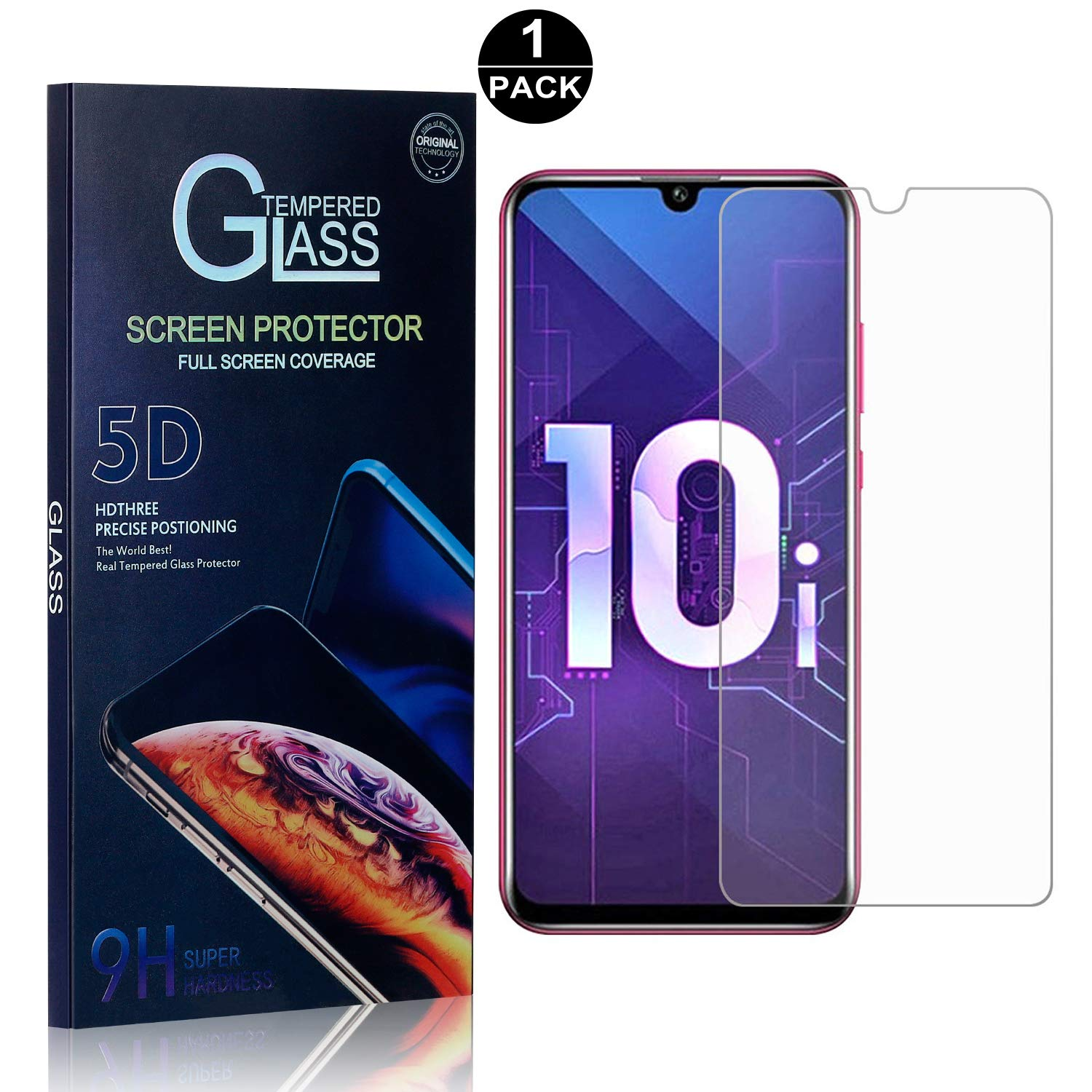 1 Pack Bear Village Screen Protector for Huawei Honor 10i 9H Hardness Tempered Glass Screen Protector Anti Scratch Screen Protector Glass for Huawei Honor 10i