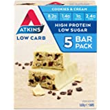 Atkins Cookies and Cream Bars | Keto Friendly Bars | 5 x 30g Low Carb Cream Bars | Low carb, Low Sugar, High Protein…