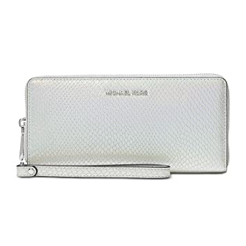 b24a1cef2a2ee5 Amazon.com | Michael Kors Snake Embossed Rainbow Hologram Zip Around Large Travel  Wallet | Travel Wallets