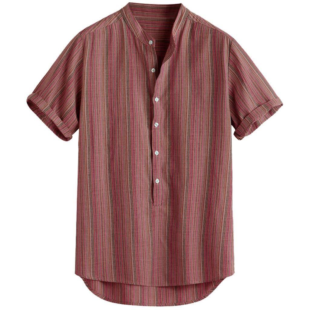iHPH7 Mens Relaxed-Fit Casual Hawaiian Shirt #19060525