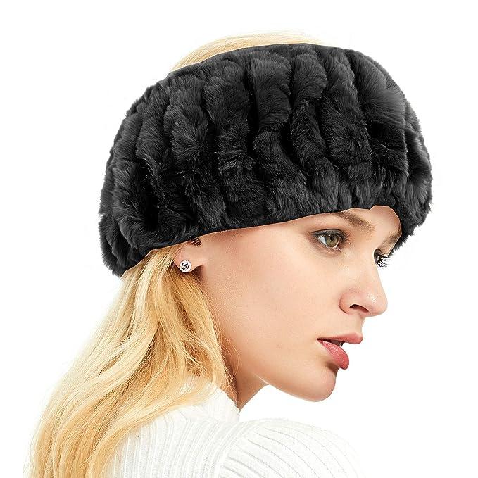 IKEPOD Real Rabbit Fur headband 94174c29cc4