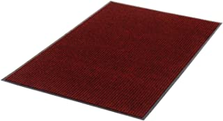 product image for Apache Mills Deep Cleaning Ribbed Entrance Mat, Red, 48 x 96
