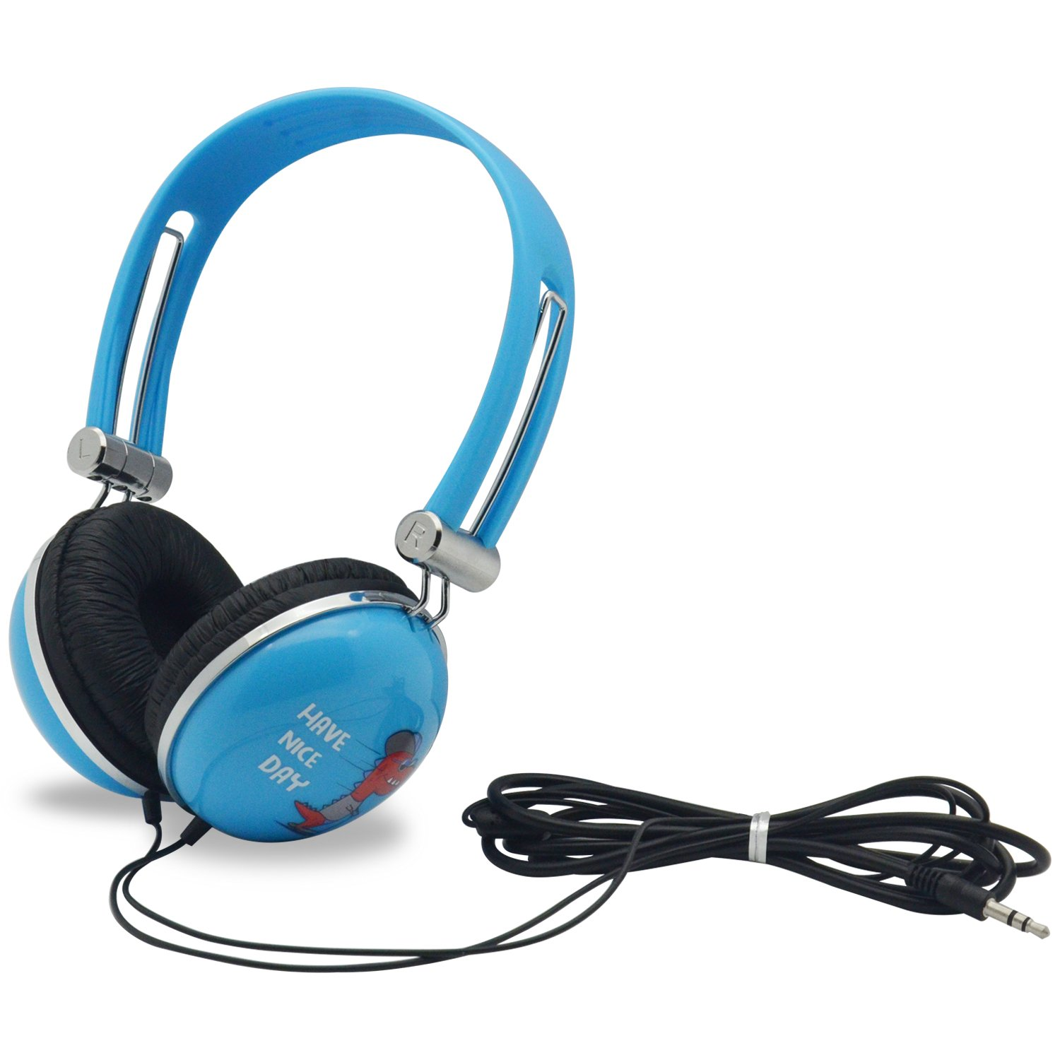 WONNIE Headset for Portable DVD Player, PC, mobile phone, Cartoon Headphone (Blue) by WONNIE