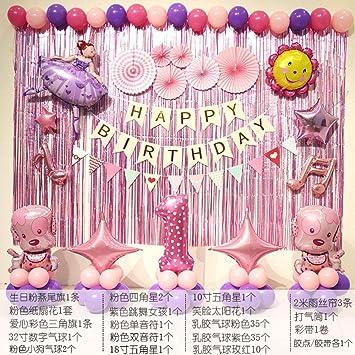 Decoración de cumpleaños Equipo de Wang Wang Diseño de ...