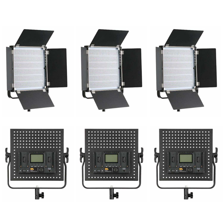 PIXEL 36W 600球 撮影ライト6個セット 照明 LEDビデオライト CRI 95+ 色温5600K/3200K 4500Lux フィルター付き アルミニウム合金製 生放送 インタビュー YouTubeビデオ撮影適用   B07PB15KWB