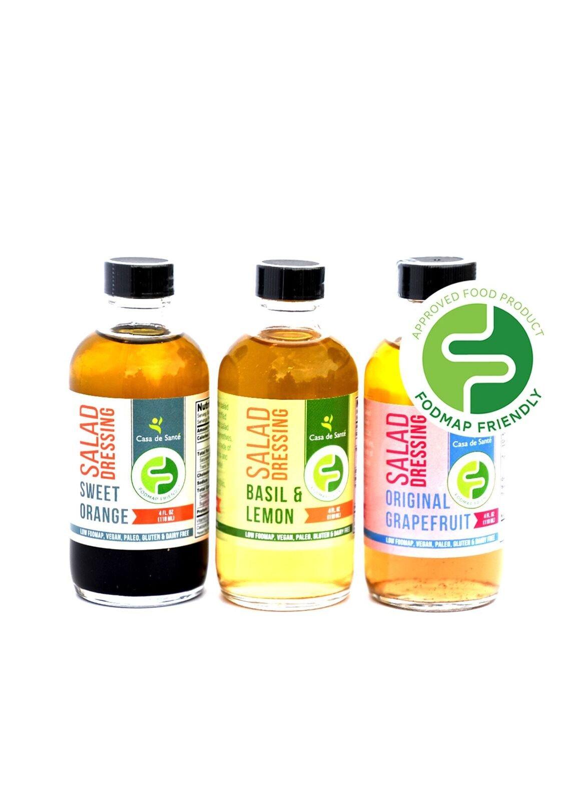 Low FODMAP Salad Dressing (Variety Pack), Paleo & Vegan Diet - Casa De Sante