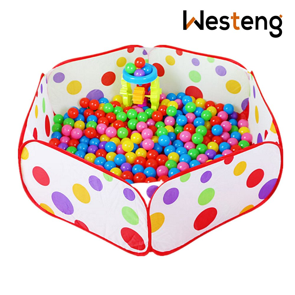 Westeng Ball Pool Crush Pit Ball Hexagon Polka Dot Play House Baby Kids Lovely Toy Tent Easy Folding Portable