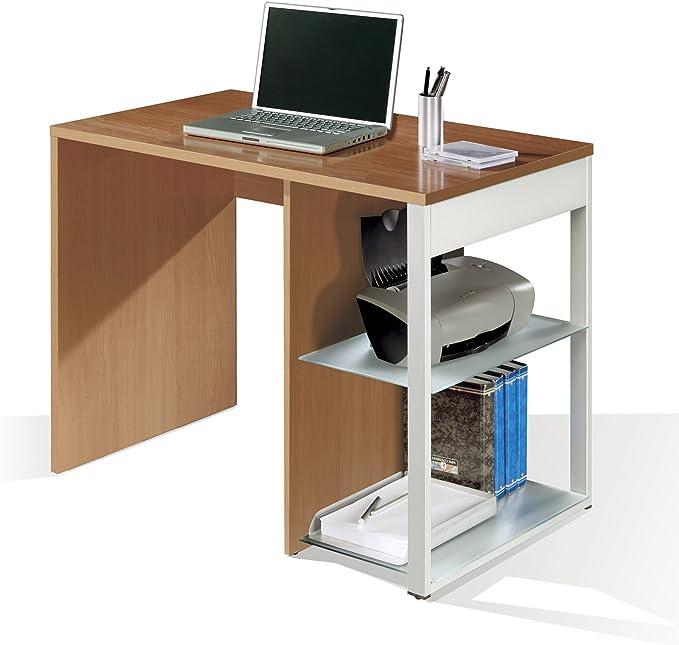 Mesa de oficina, ordenador o escritorio en color cerezo, pata ...