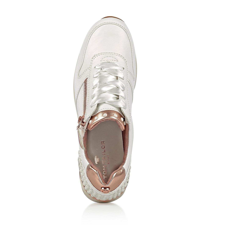 TOM TAILOR TAILOR TOM Damen 4894106 Sneaker Weiß/Roségold 002c9d