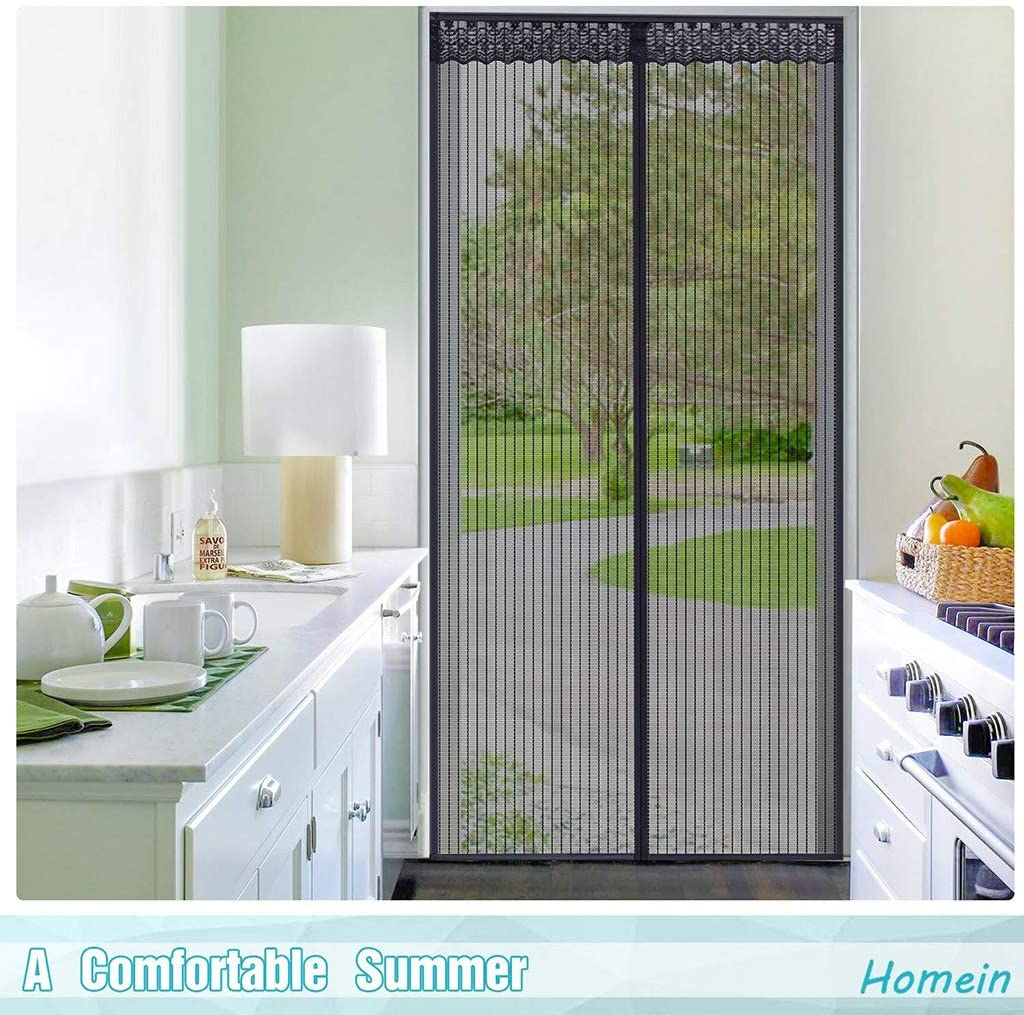 Fly Screen DoorMagnetic encryption Anti-Mosquito Door Curtain Magnetic Screen Door Summer Household Anti-Fly Mute self-Priming Bedroom partition Screen Free Punch