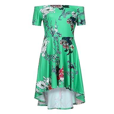 better-caress Summer Dress Vintage Printing Off Shoulder Casual Evening Party Prom Swing Summer Dress