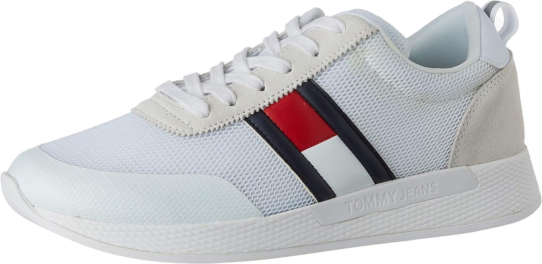 Tommy Hilfiger Flexi Tommy Jeans Flag Sneaker, Zapatillas para Hombre