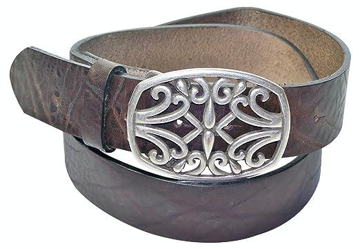 croc-embossed interchangeable belt no buckle FRONHOFER Full-grain leather belt