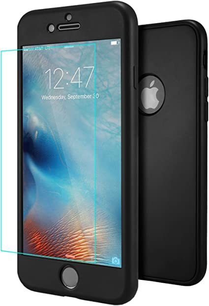 Ivencase Custodia Iphone 6 6s Nero Cover Iphone 6s Ultra Sottile 3 In 1 Design Front
